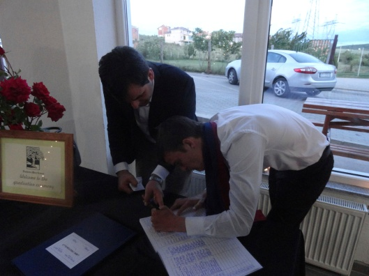 After the ceremony each graduate had to sign the register for it to be official.