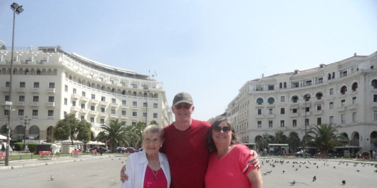 We all took a really fun trip to Greece.