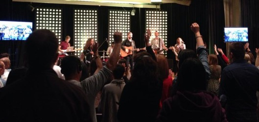Hillsong - London.  Great group, VERY loud and enthusiastic worship.