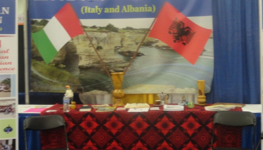 We found booths after our own hearts. Kosovars consider themselves Albanian.