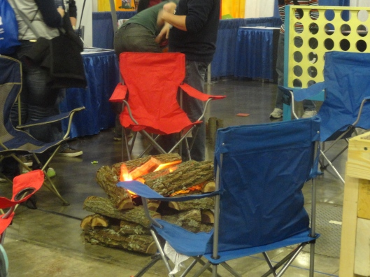 Booths set up to promote camps