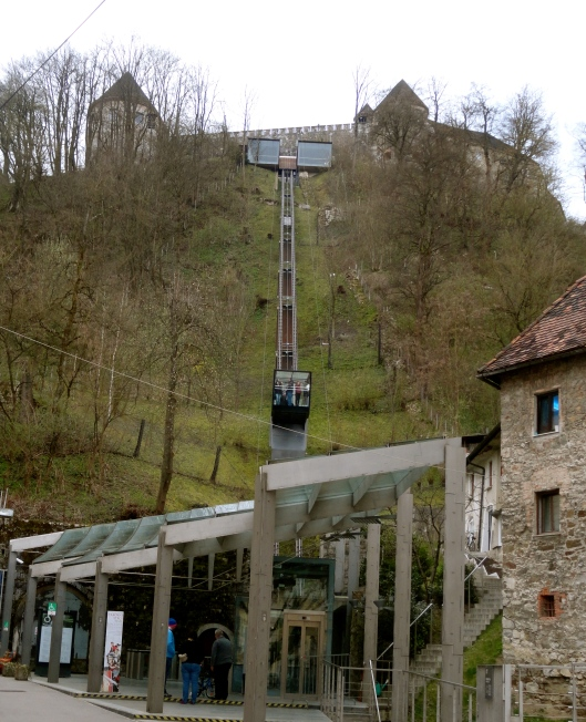OK,  actually we didn't walk up to the fortress, we took the funicular,