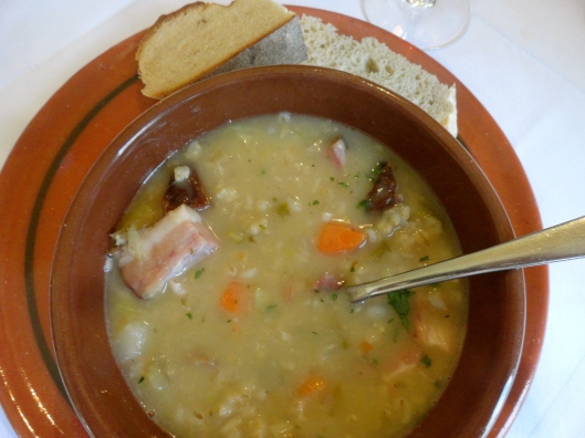 The best barley soup ever!  Big chunks of ham, beans, carrots and of course a bit of barley.  So good, we had it twice :]