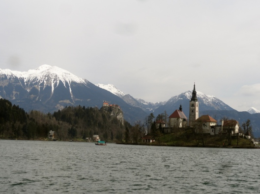 We even did our own version of a 5k walk around Lake Bled to view the church on the island.