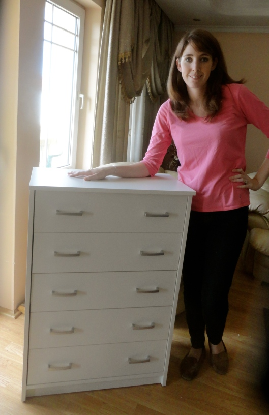 Yea! Katie has a dresser!
