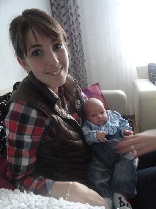 my baby holding Lindita's baby.
